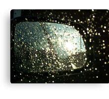 Car Mirror Reflection Canvas Print