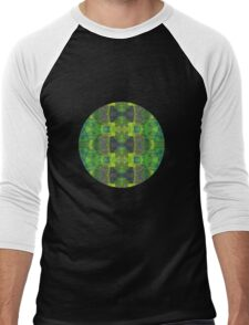 Green abstract detail painting - 2016 Men's Baseball ¾ T-Shirt