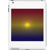 Lines Gradient - Blue   Yellow   Red   Black iPad Case/Skin