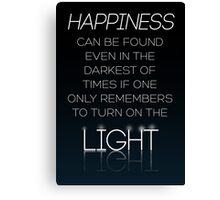 HARRY POTTER Quote by Albus Dumbledore Canvas Print