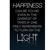 HARRY POTTER Quote by Albus Dumbledore Photographic Print