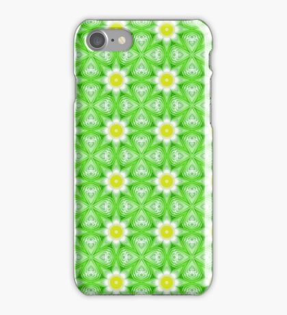 Green and yellow abstract pattern background iPhone Case/Skin
