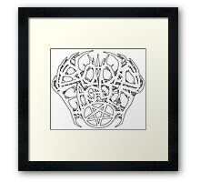 Blood Eagles Logo (White) Framed Print