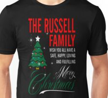 The Russell Family Wish All Have Merry Christmas T-Shirt Unisex T-Shirt