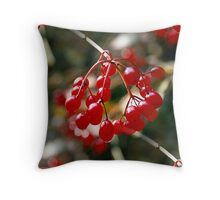 Red hot berries Throw Pillow