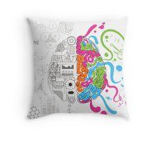 Creative Brain Chemistry Throw Pillow