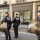 Riot Police, St. Germaine, Paris, France by Elaine Teague