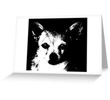 Black and White Chihuahua Greeting Card