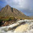 Buachaille Etive Mor and River Coupall by beavo