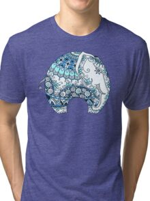 Decorated Indian Elephant Tri-blend T-Shirt