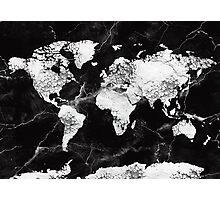 world map marble 2 Photographic Print
