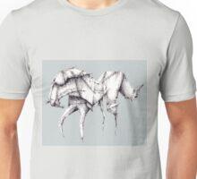Grey Origami Horse Unisex T-Shirt