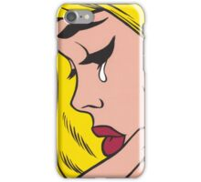 Blonde Crying Comic Girl iPhone Case/Skin