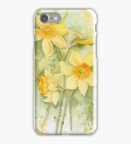 Daffodil Splash iPhone Case/Skin