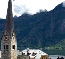 Church in Austria Lake Landscape Sticker