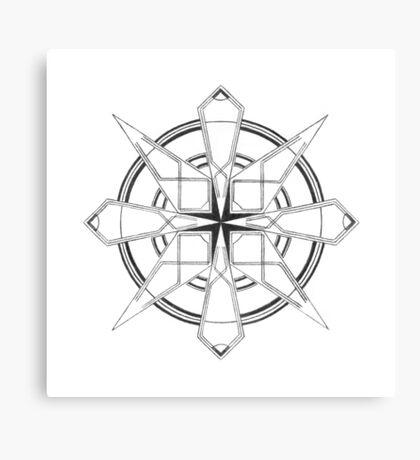 Mandala #110 || Mono Canvas Print