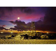 Redhead Beach in Moonlight Photographic Print