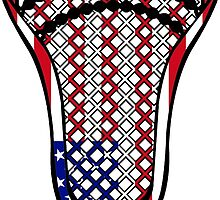 Lacrosse Head Flag by YouGotThat