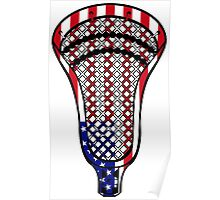 Lacrosse Head Flag Poster