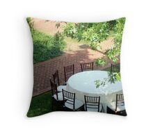 Al Fresco - On a warm, summer evening   ^ Throw Pillow