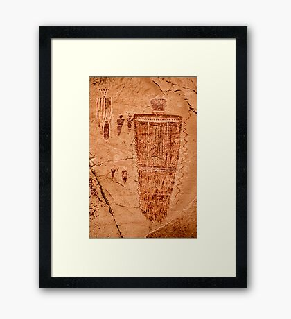 Horseshoe Canyon Great Gallery Figure 7 Pictographs Framed Print
