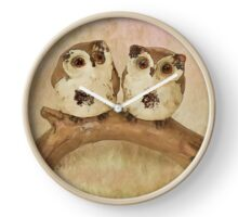 Cartoon Owl Digital Painting Clock
