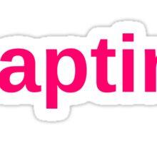 #Naptime Graphic Typography Sticker
