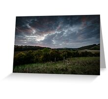 Twilight in the Chilterns Greeting Card