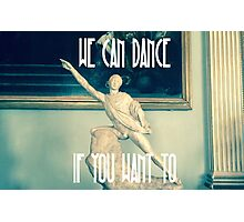 Disco Statue with Dancing Fever Photographic Print