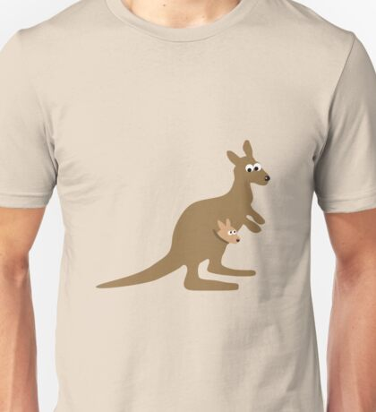 Kangaroo and Joey Unisex T-Shirt