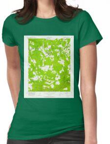 USGS TOPO Map California CA Standard 300649 1948 24000 geo Womens Fitted T-Shirt