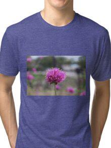 Blue Flower Tri-blend T-Shirt