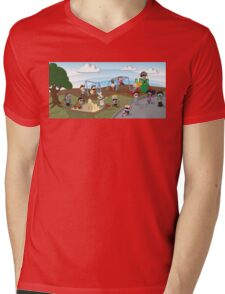 The Playground Mens V-Neck T-Shirt