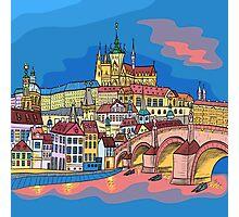 Christmas Prague landscape Photographic Print