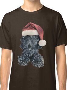 Cockapoo in a Christmas Santa Hat (Blue) Classic T-Shirt