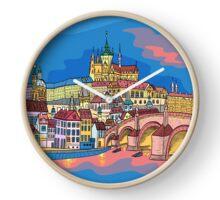 Christmas Prague landscape Clock