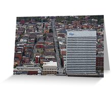 Downtown City  Greeting Card