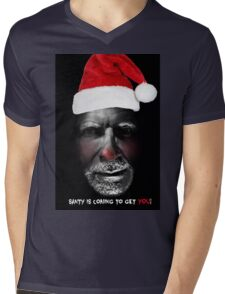 Santa is coming to get you Mens V-Neck T-Shirt