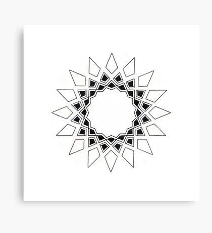 Mandala #211 || Mono Canvas Print