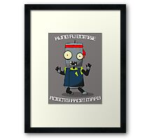 Kung Fu Zombie Robots From Mars Framed Print