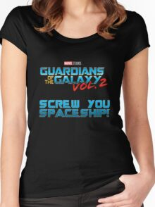 Guardians - Screw You Spaceship Women's Fitted Scoop T-Shirt