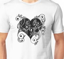 Abstract Floral Heart Unisex T-Shirt