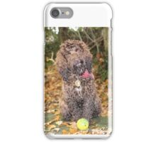 Cockapoo with Autumn Leaves in Woods iPhone Case/Skin
