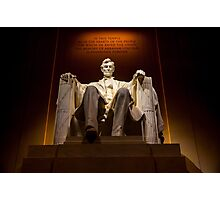 Lincoln Memorial At Night - Washington D.c. Photographic Print