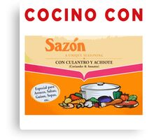COCINO CON SAZON Canvas Print