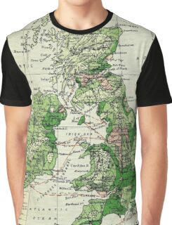 Old commercial map of the British Isles 1865 - 1907 Graphic T-Shirt