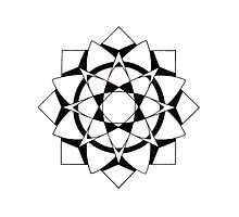 Mandala #215  ||  Mono by RedBookJournals