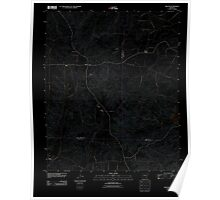 USGS TOPO Map Arkansas AR Willow 20110715 TM Inverted Poster