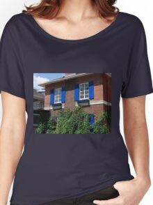 Bright Blue Shutters Women's Relaxed Fit T-Shirt
