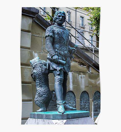 Zahringer Denkmal Statue - Bern - Switzerland Poster